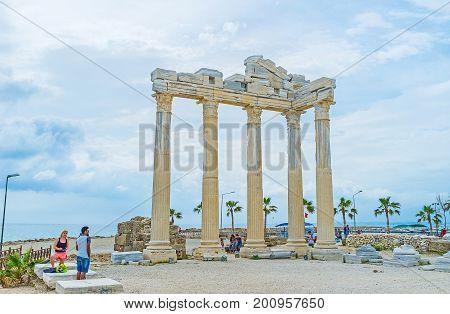 Ancient Apollo Temple In Side