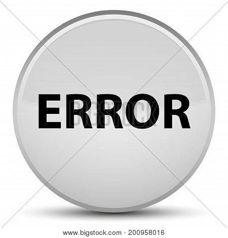 Error Special White Round Button