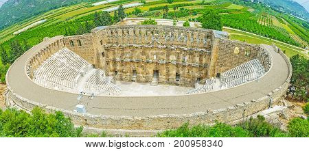 The Top View On Aspendos Amphitheater