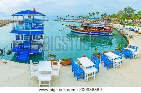 Cafe In Port Of Side