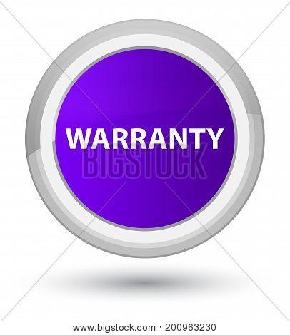 Warranty Prime Purple Round Button