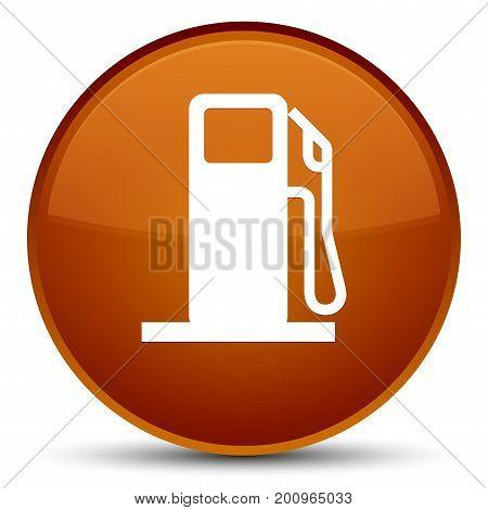 Fuel Dispenser Icon Special Brown Round Button