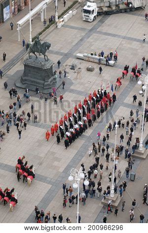 ZAGREB, CROATIA - OCTOBER 16: On the occasion of