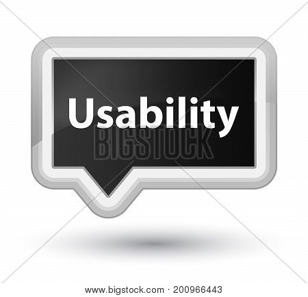 Usability Prime Black Banner Button