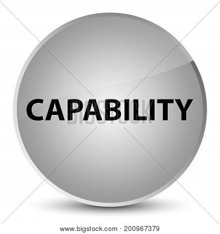 Capability Elegant White Round Button