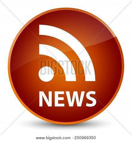 News (rss Icon) Elegant Brown Round Button
