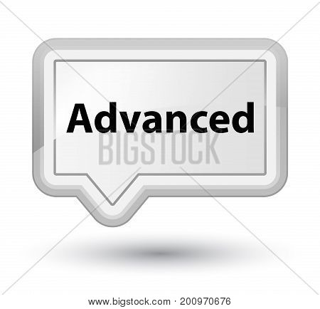 Advanced Prime White Banner Button