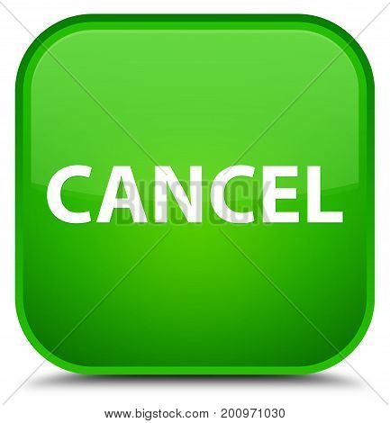 Cancel Special Green Square Button