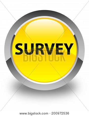 Survey Glossy Yellow Round Button
