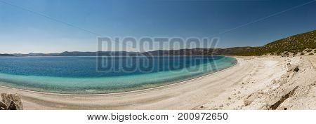 Lake Salda a crater lake in southwestern Turkey
