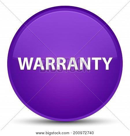 Warranty Special Purple Round Button