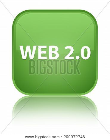Web 2.0 Special Soft Green Square Button