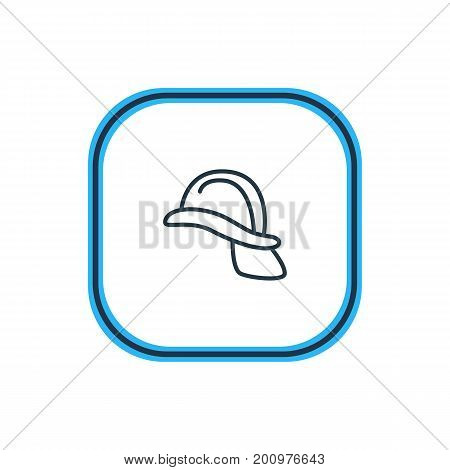 Beautiful Necessity Element Also Can Be Used As Hardhat Element.  Vector Illustration Of Helmet Outline.