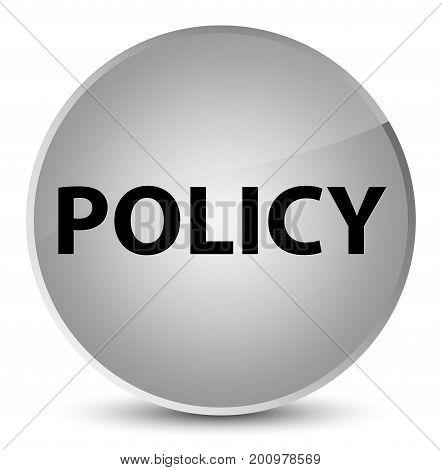 Policy Elegant White Round Button