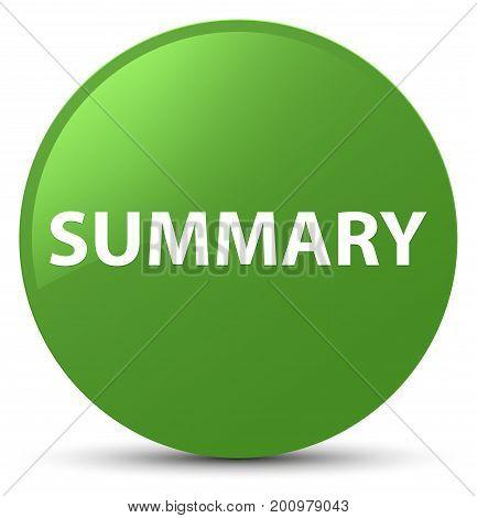 Summary Soft Green Round Button