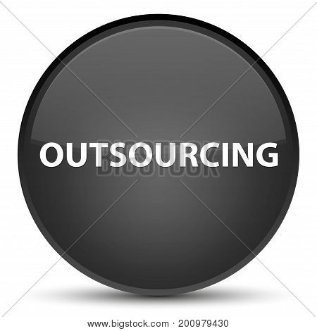 Outsourcing Special Black Round Button