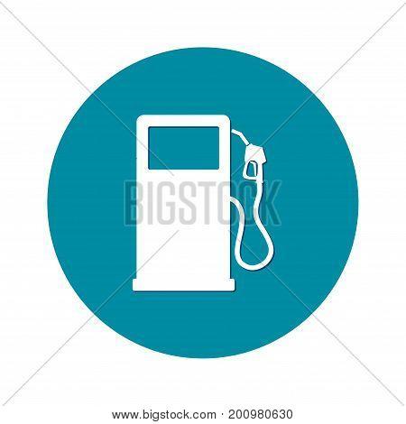 Gasoline pump nozzle sign.Gas station icon. Flat design style.