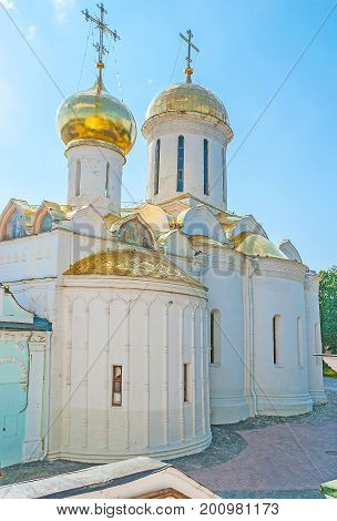 The Nikon's Chapel Of Trinity Cathedral In Sergiyev Posad