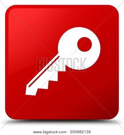Key Icon Red Square Button