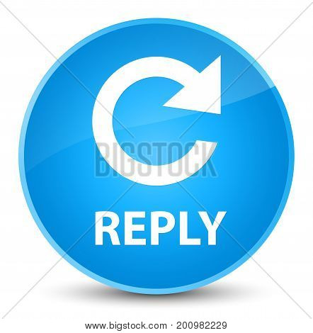 Reply (rotate Arrow Icon) Elegant Cyan Blue Round Button