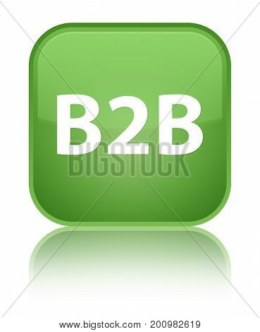 B2B Special Soft Green Square Button