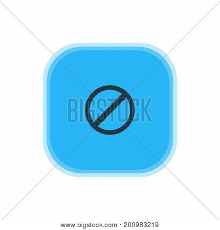 Beautiful Member Element Also Can Be Used As Access Denied  Element.  Vector Illustration Of Blocked Icon.