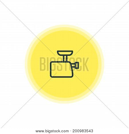 Beautiful Kitchenware Element Also Can Be Used As Mincer Element.  Vector Illustration Of Meat Grinder Icon.
