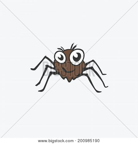 Funny vector icon spider. Flat Illustration for your design