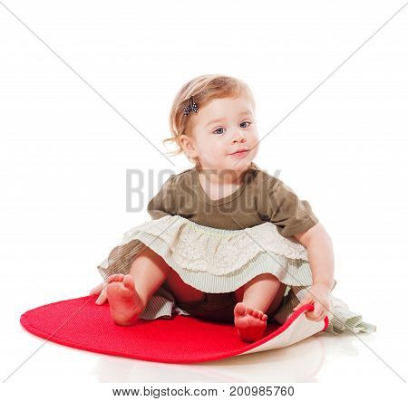 Toddler Girl Sitting