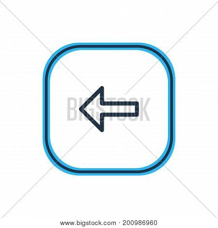 Beautiful Direction Element Also Can Be Used As Direction Element.  Vector Illustration Of Left Outline.