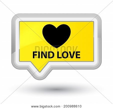 Find Love Prime Yellow Banner Button