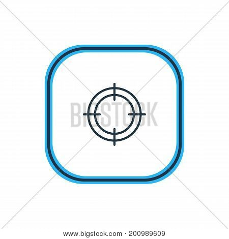 Beautiful Athletic Element Also Can Be Used As Sniper  Element.  Vector Illustration Of Target Outline.