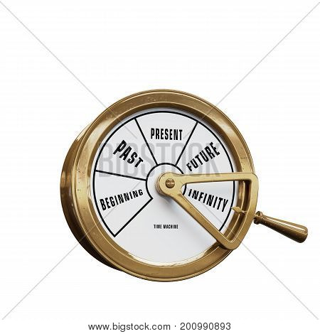 Ship telegraph time machine going to Infinity