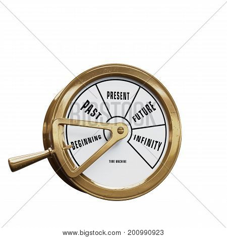Ship telegraph time machine going to the Beginning