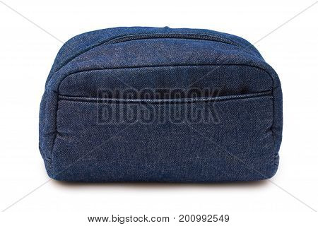 blue jeans bag isolated on white background.