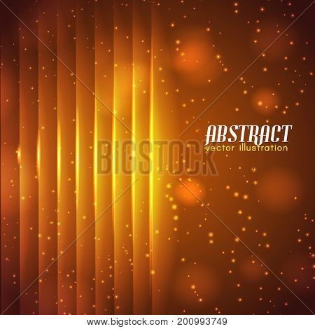 Light sparkling abstract background with luminous vertical straight lines and glowing effects vector illustration