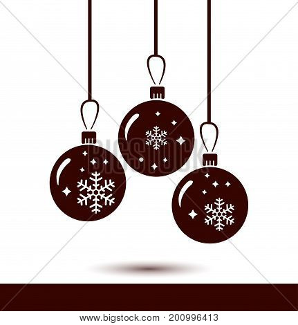 Christmas balls icon. New Year decoration. All to celebrate the New Year and Christmas.