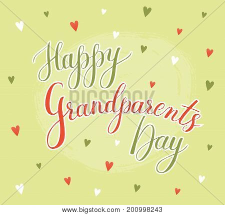 Vector greeting card vector photo free trial bigstock vector greeting card happy grandparent day lettering grandparents day with illustrations on color background with m4hsunfo