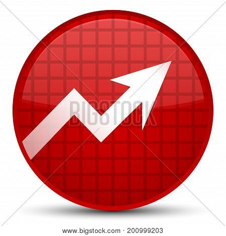 Business Graph Icon Special Red Round Button