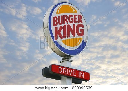 LINDEN GERMANY FEBRUARY 2017: Burger King Restaurants logo. Burger King is a global chain of hamburger fast food restaurants United States