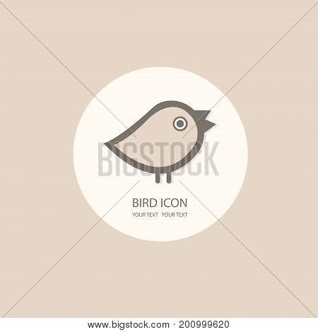 Bird logo template. Abstract Icon. Business concept. Use for any type of company. vector illustration