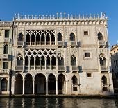 Famous Gothic Palace Ca D'Oro at the Grand Canal Venice Italy poster