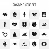 Set Of 20 Editable Kin Icons. Includes Symbols Such As Tea, Beloveds, Tower And More poster