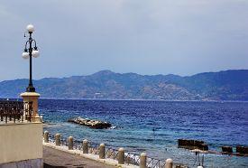 Italy, Reggio Di Calabria,  Quay Of  Mediterranean Sea -  Lungomare Falcomata