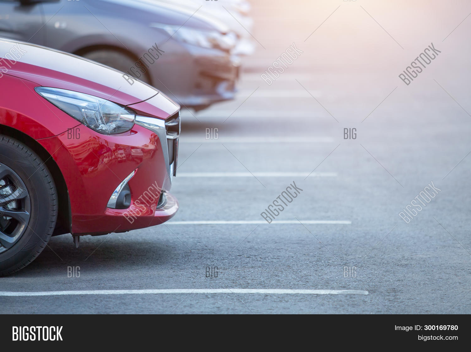 Cars Parked Parking , Image & Photo (Free Trial) | Bigstock