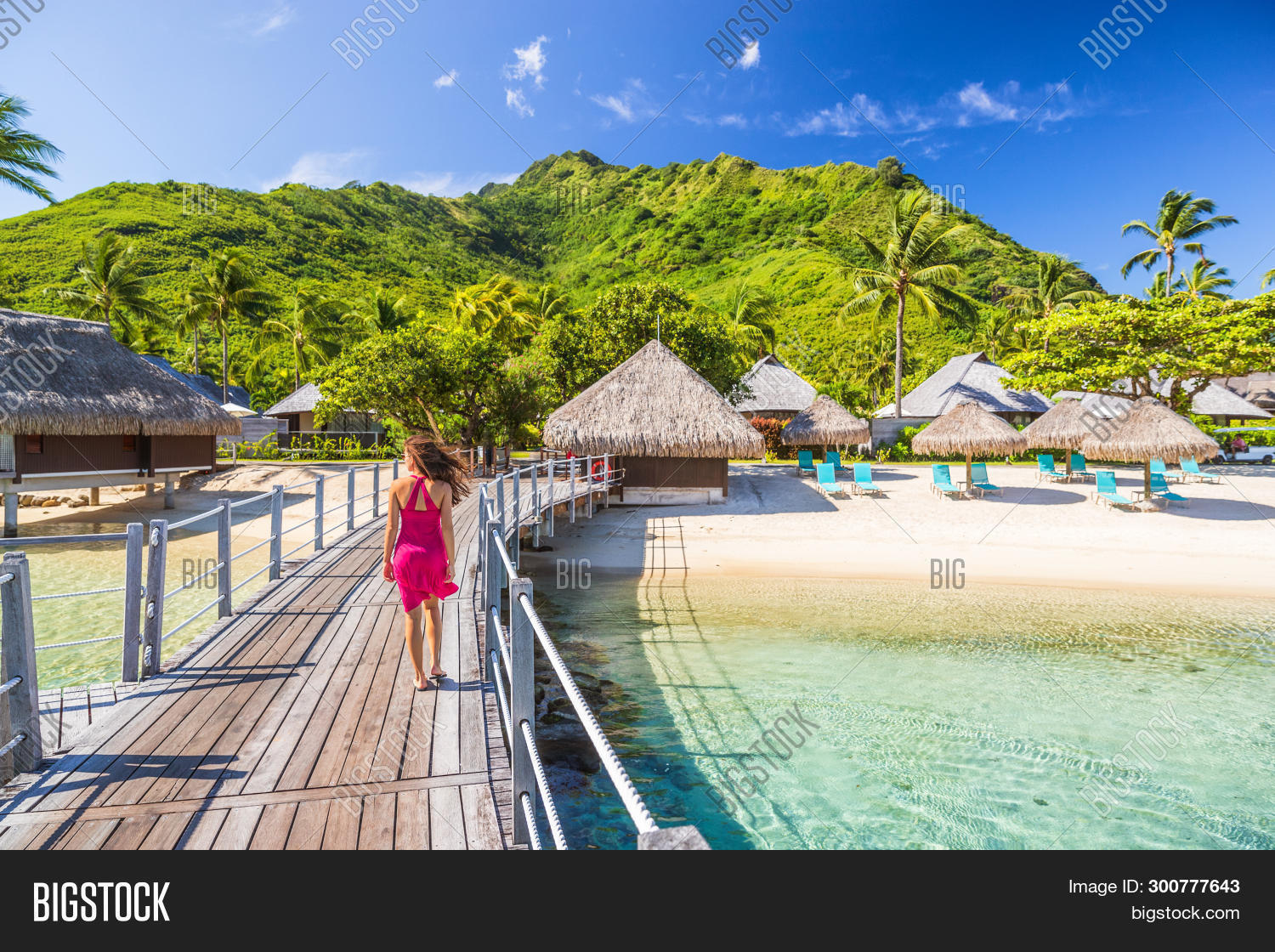 Overwater Bungalow Image Photo Free Trial Bigstock