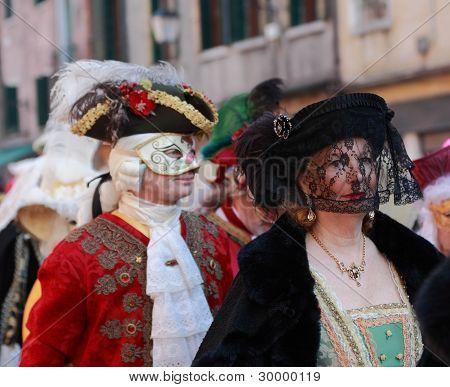 Disguised Mature Venetian Woman