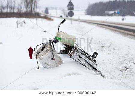 Bicycle on the roadside