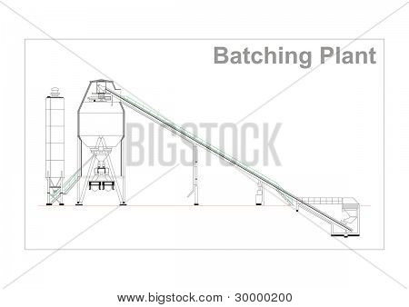 Batching Plant Illustration