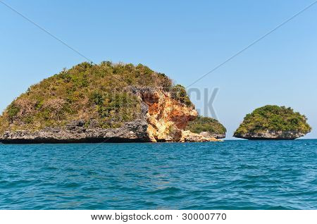 eroded island